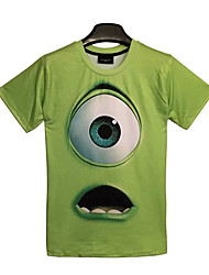Monsters University Mike Green Polyester Women's Cosplay T-shirt