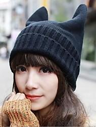 personnalité de la mode tricot délicat diable le chapeau des femmes