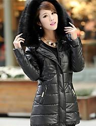 Women's Slim Hoodie Faux Fur Warm Coat