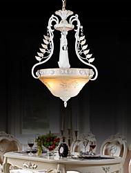 pendentif blanc deux feux motif de verre ombre main doré européen 220v classique rétro