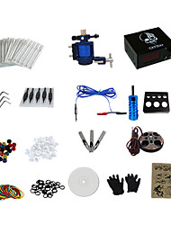 1 Gun Complete No Ink Tattoo Kit with Alloy Motor Tattoo Machine and Skull Pattern Power Supply