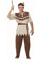 indian primitieve bruine volwassen man halloween kostuum