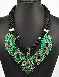 Eternity Women's Green Gem Necklace