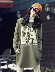 Women's Medium Style Casual Loose Cotton Hoodie