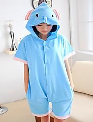 Unisex Netter Elefant Sky Blue Cotton Kigurumi Pyjama für den Sommer