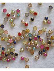 50 Manucure Dé oration strass Perles Maquillage cosmétique Manucure Design