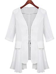 Women's Slim ½ Length Sleeve Chiffon Coat