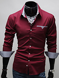 Z & S мужская лацкане шею оболочка с длинным рукавом