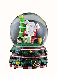 Snowing Santa Claus Crystal Ball with 8 Sound Christmas Music Box.