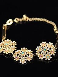 Women's Rhinestone  Flower Bracelet