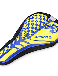 INBIKE High Elastic Fabric+GEL Yellow+Blue Cycling Saddle Cover