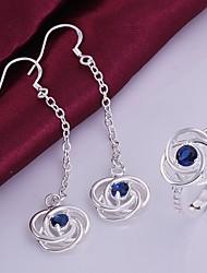 mode hol uit bloem sieraden set (ring + earring) (1 set)