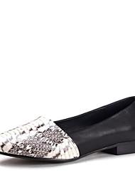 pattini delle donne di conforto cuoio tacco mocassini scarpe basse
