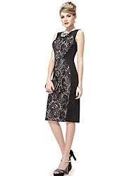 affascinante elegante pizzo nero corto abito estivo matita casuale delle donne sempre pretty®