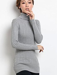 SANFENZISE™ Women's Roll Neck Twist Upset Knit Sweater