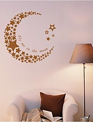 JiuBai™ Moon And Stars Wall Sticker Wall Decal