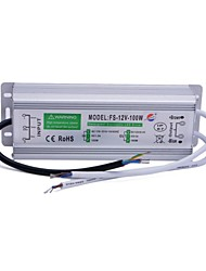 Xinyuanyang® FS-12V-100W Waterproof External 100W LED Power Supply Driver -Silver (110~250V)