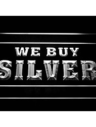 i1008 We Buy Silver Shop Display Neon Light Sign
