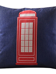 Telephone Booth Cotton/Linen Decorative Pillow Cover