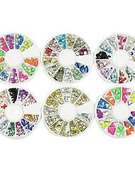 2000pcs misturado multi-opção multi-cor da arte do prego decoração