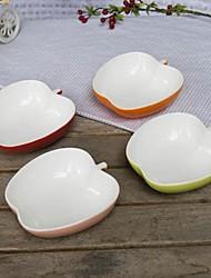 creativas de cerámica con forma de manzana postres cuencos, 10x10x3.6cm