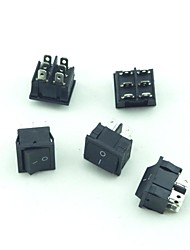 250V 10A 6Pin 3Mode Rocker Switch  5 PCS
