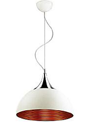Witte hanglamp 1 Licht Modern Silver Chroom Metalen