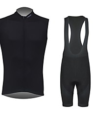 Cycling Jersey with Bib Shorts Men's Short Sleeve Bike Breathable / Front Zipper / Water Bottle Pocket Clothing Sets/SuitsSpandex /