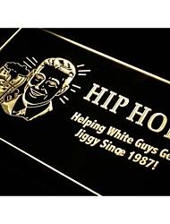 i171 Hip Hop help white guy jiggy Bar Neon Light Sign