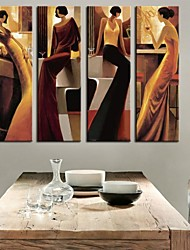 Personalized Canvas Print Stretched Canvas Art  Abstract Woman 25x75cm  33x100cm Gallery Wrapped Art Set of 4