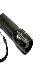 Led Can Zoom Light Flashlight (800LM, 3xAAA, Black)