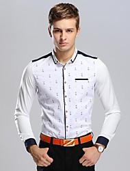 Men's Pineapple Printing Business Long Sleeved Shirt
