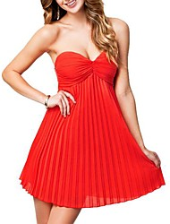 Women's Sexy Strapless Boat Neck Dress