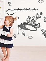adesivos de parede adesivos de parede, parede parque pvc avião dos desenhos animados modernos adesivos