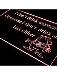 j367 je ne bois plus bar bière signe de néon