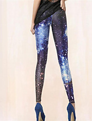 Pink Queen Womens Spandex Stars Sparkle Leggings