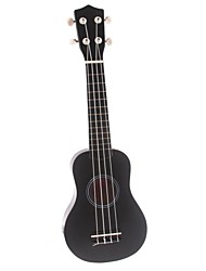 "21"" Linden Wood Soprano Ukulele(Black) UK-21"