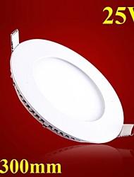 25w ultrafina redonda panel light 300mm smd 2835 mini LED ac85-265v lámpara de techo