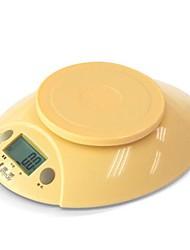 snoep kleuren elektronische voedsel keukenweegschaal 3000g / 0,1 g, plastic 22.2x16.5x5.6cm