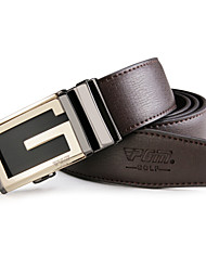 PGM Men's Leather Alloy Automatic Agio White Golf Belt