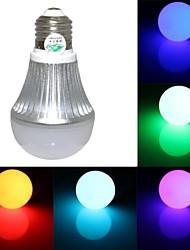 RGB светодиодные лампы с пультом ДУ - белый серебряный (AC90 ~ 260V) 150lm 3W E27