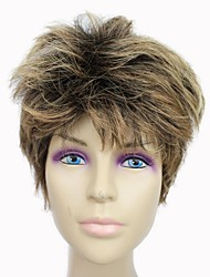 Capless Top Grade Synthetic Short Coffee Straight Synthetic Hair Wig