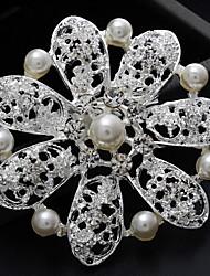 moda liga de prata pérola indivíduo vintage broches de strass mulheres