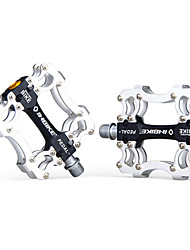 INBIKE Aluminum Alloy Black+Silver 3 Bearing Bike Bicycle Pedals
