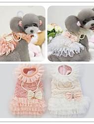 robe d'hiver avec collier délicat et bowknot costumes vêtements pour animaux de compagnie à bas prix de clothesxs d'hiver de