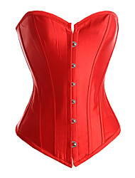 plastique satiné désossage casual / shapewear occasion spéciale de corset (plus de couleurs)