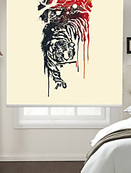 Artistic Painting Hidden Tiger Roller Shade