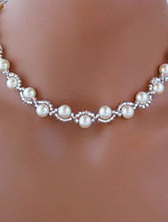 Shixin® Classic Beautiful Wedding White Pearl Necklace(1 Pc)