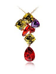 Women's Cubic Zirconia/Brass/Vermeil Necklace Gift/Daily Cubic Zirconia