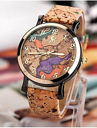 moda casca de grãos de mármore do córtex das mulheres relógios casuais